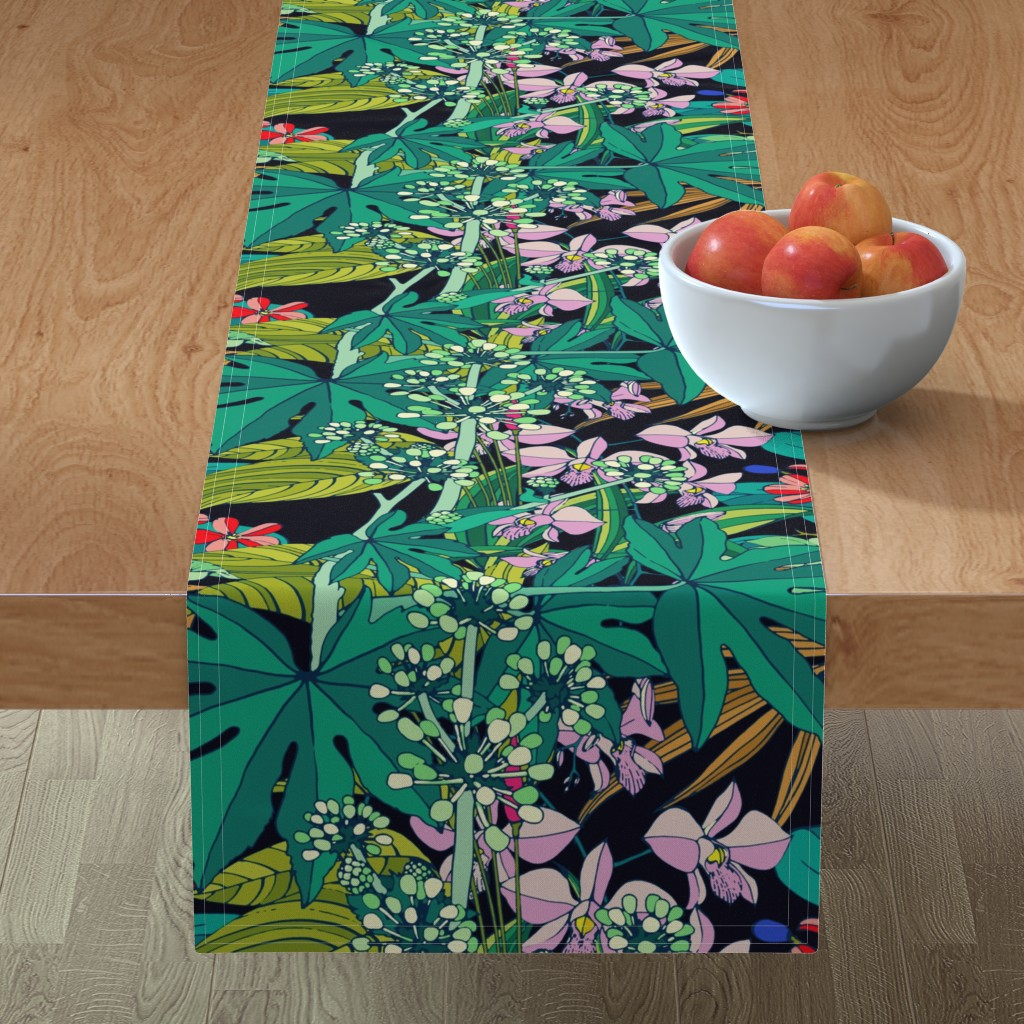 Minorca Table Runner featuring Secret Oasis (vintage) by chicca_besso