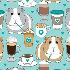 large guinea-pigs-and-coffee on teal
