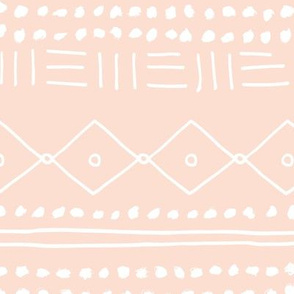 Minimal mudcloth bohemian mayan abstract indian summer love aztec design peach blush JUMBO