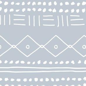 Minimal mudcloth bohemian mayan abstract indian summer love aztec design ice blue JUMBO