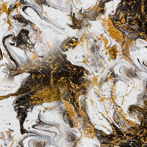 Acrylic flow painting gold marble
