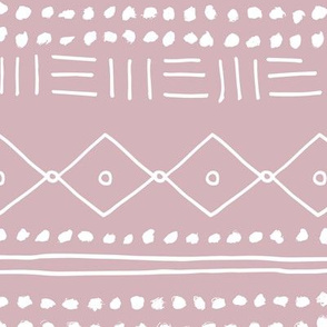 Minimal mudcloth bohemian mayan abstract indian summer love aztec design dusty pink JUMBO