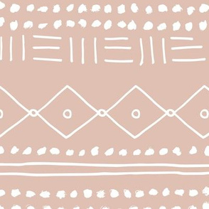 Minimal mudcloth bohemian mayan abstract indian summer love aztec design dusty nude JUMBO