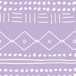 Minimal mudcloth bohemian mayan abstract indian summer love aztec design dusty lilac JUMBO