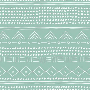 Minimal mudcloth bohemian mayan abstract indian summer love aztec design mint