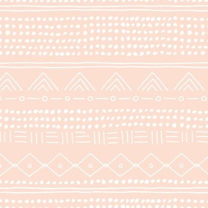 Minimal mudcloth bohemian mayan abstract indian summer love aztec design peach blush