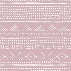 Minimal mudcloth bohemian mayan abstract indian summer love aztec design dusty pink