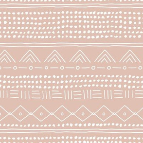 Minimal mudcloth bohemian mayan abstract indian summer love aztec design dusty nude