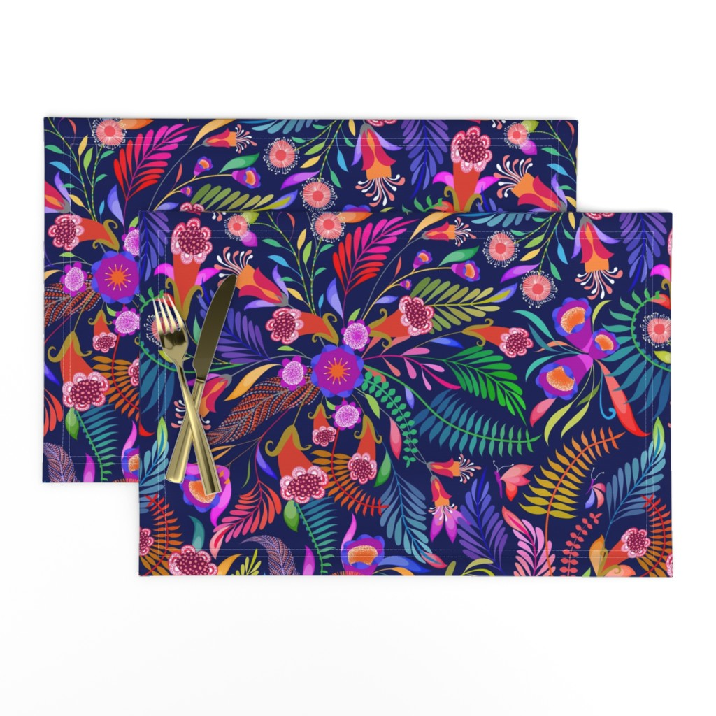 Lamona Cloth Placemats featuring Paradise Boho for the Bold by vo_aka_virginiao