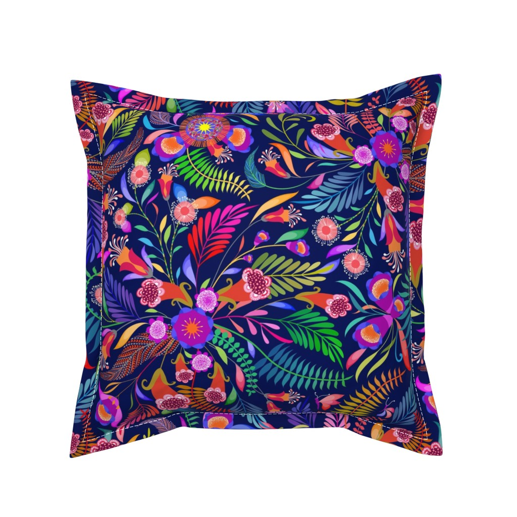 Serama Throw Pillow featuring Paradise Boho for the Bold by vo_aka_virginiao