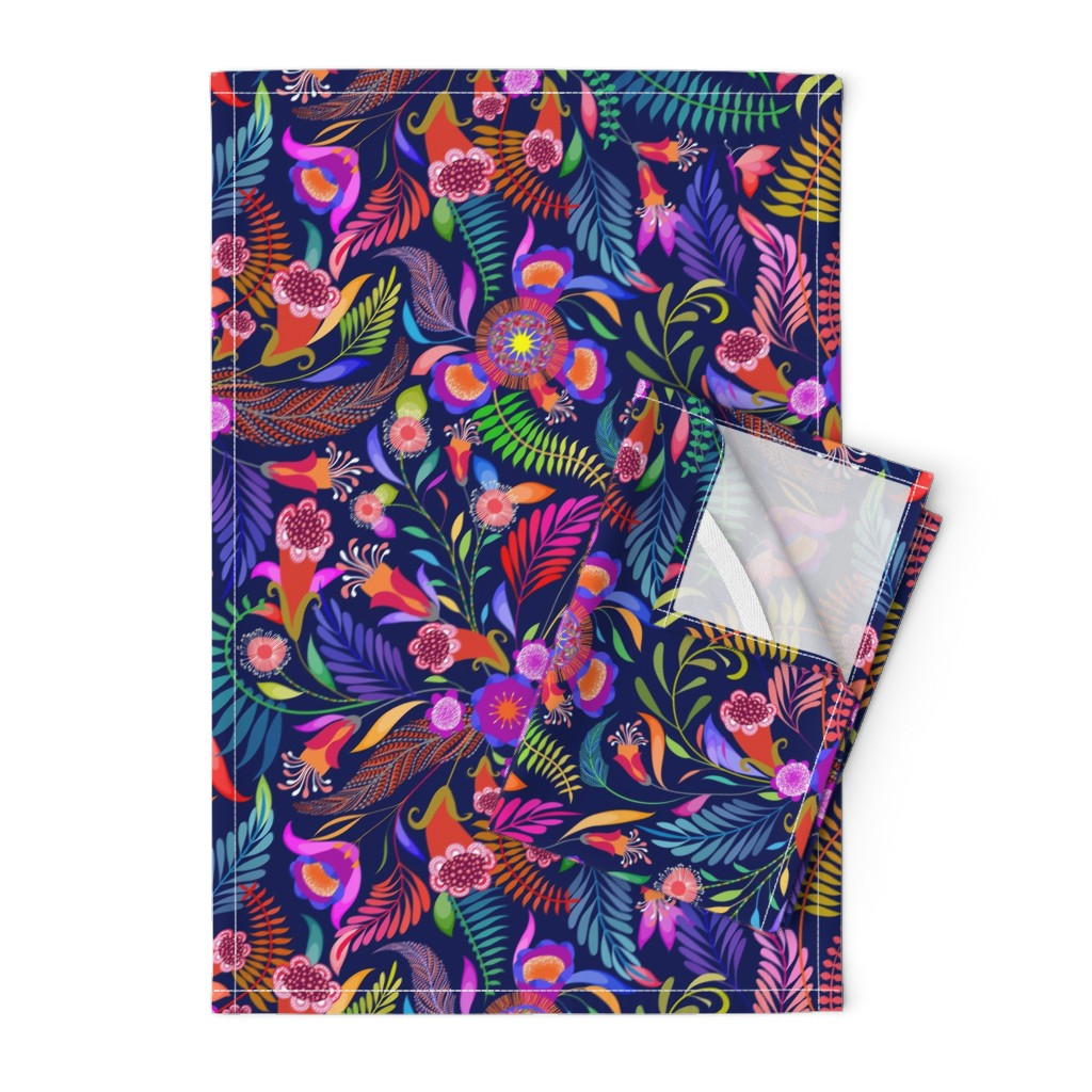 Orpington Tea Towels featuring Paradise Boho for the Bold by vo_aka_virginiao