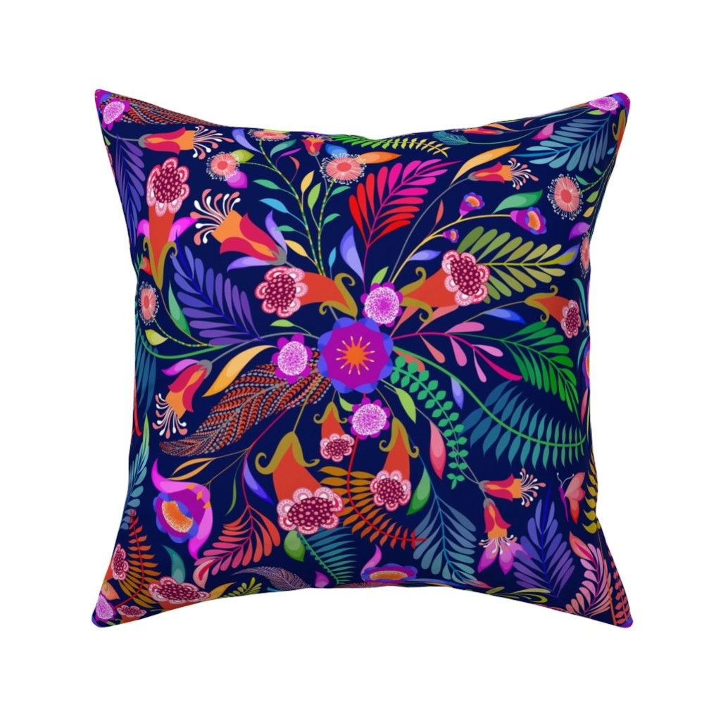 Catalan Throw Pillow featuring Paradise Boho for the Bold by vo_aka_virginiao