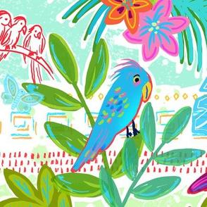 Bohemian birds in tropical paradise