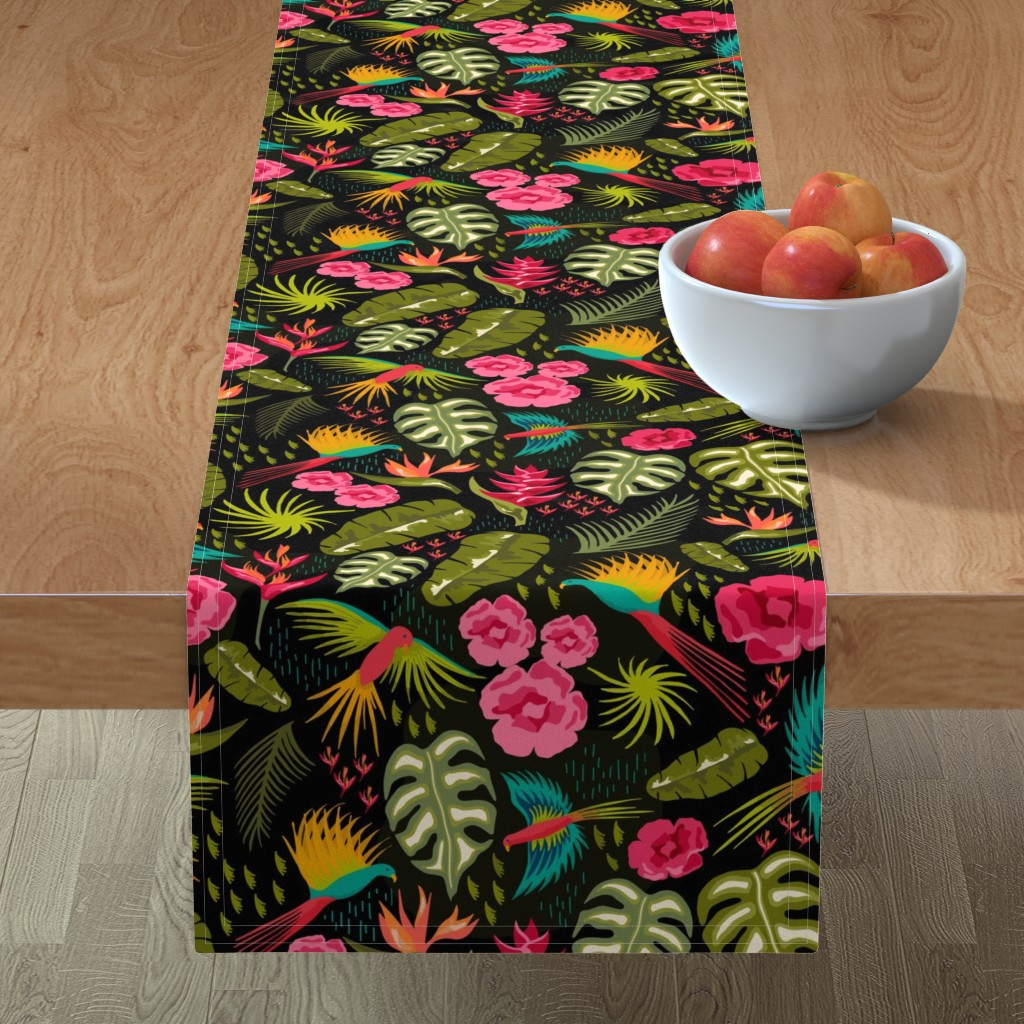 Minorca Table Runner featuring Jungle Paradise by warpedspinster