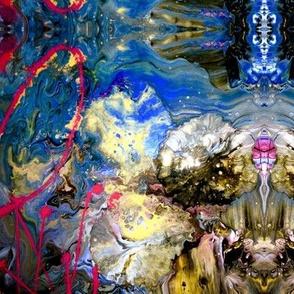 paintpour earth colours