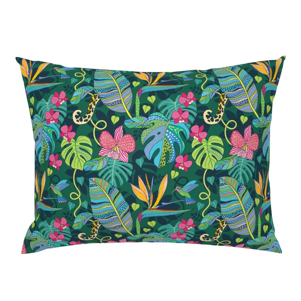 Campine Pillow Sham featuring Bohemian Tropics by nadyabasos