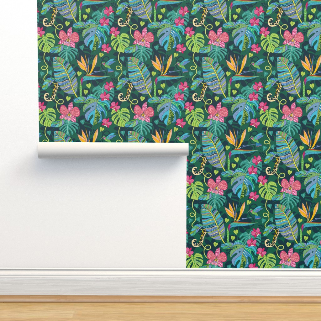 Isobar Durable Wallpaper featuring Bohemian Tropics by nadyabasos