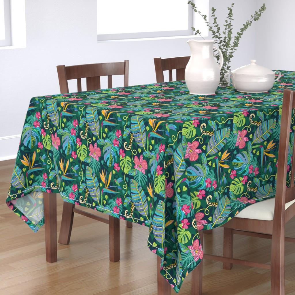 Bantam Rectangular Tablecloth featuring Bohemian Tropics by nadyabasos