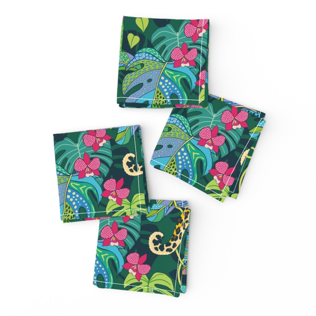 Frizzle Cocktail Napkins featuring Bohemian Tropics by nadyabasos