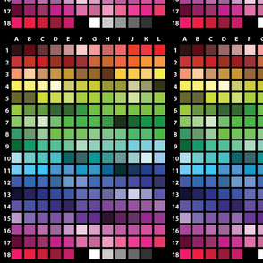 web colors charted BLK