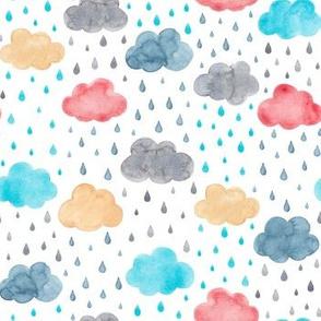 Colourful rainclouds