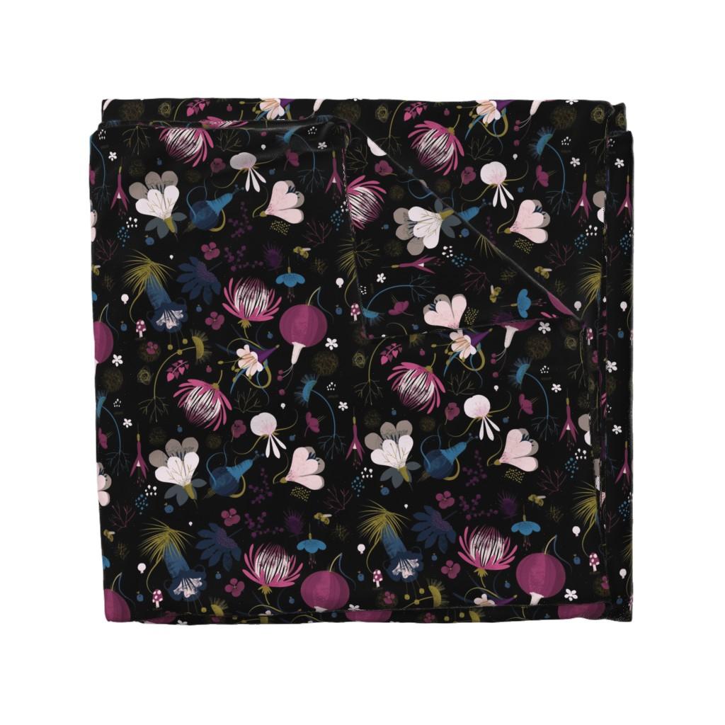 Wyandotte Duvet Cover featuring moody florals by samrudddesign