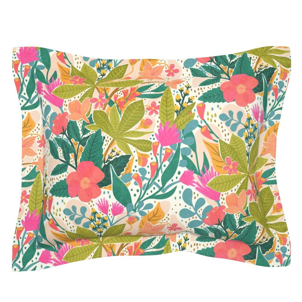 Sebright Pillow Sham featuring Bohemian Garden by jacquelinehurd