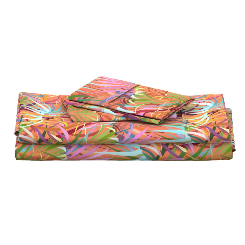 Langshan Full Bed Set featuring Tropical Mood of the Coral Season by runcatrun