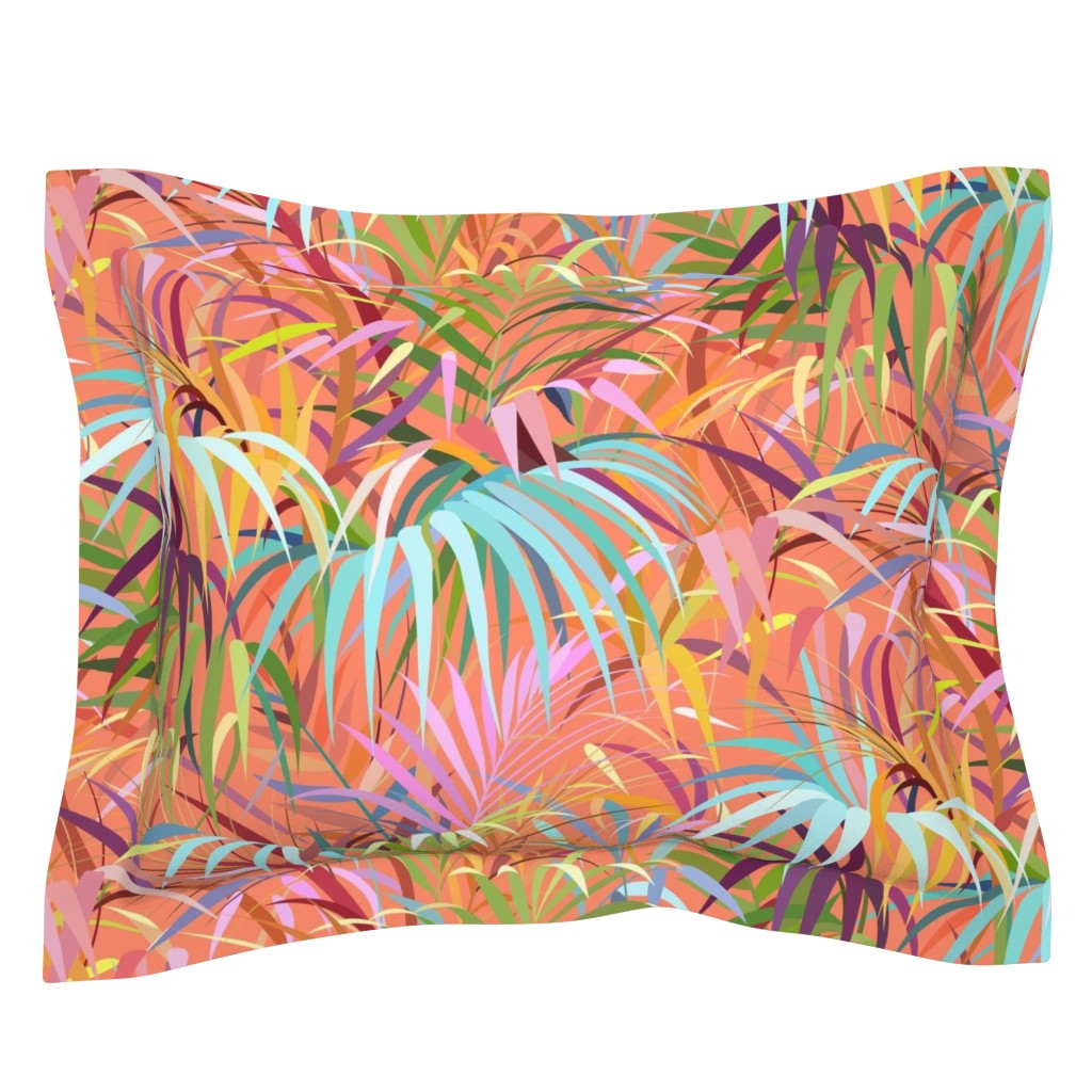 Sebright Pillow Sham featuring Tropical Mood of the Coral Season by runcatrun