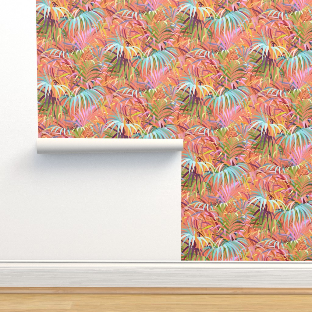 Isobar Durable Wallpaper featuring Tropical Mood of the Coral Season by runcatrun