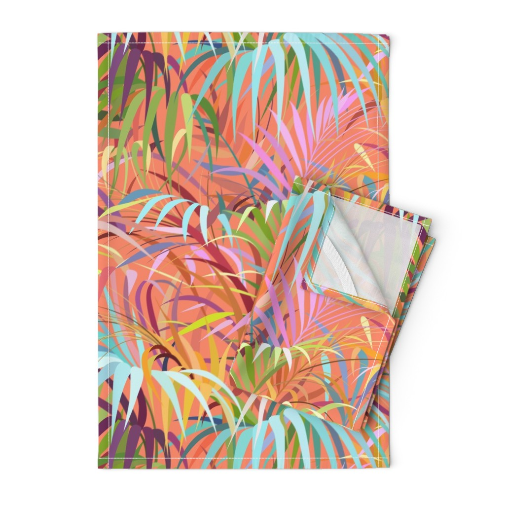 Orpington Tea Towels featuring Tropical Mood of the Coral Season by runcatrun