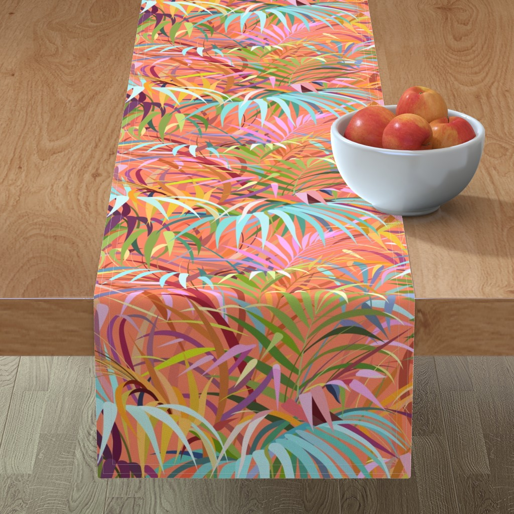 Minorca Table Runner featuring Tropical Mood of the Coral Season by runcatrun
