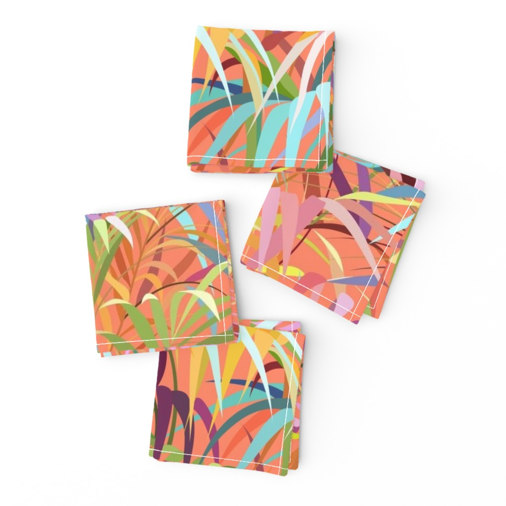 Frizzle Cocktail Napkins featuring Tropical Mood of the Coral Season by runcatrun