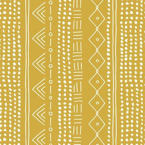 Minimal mudcloth bohemian mayan abstract indian summer love aztec design yellow ochre vertical rotated