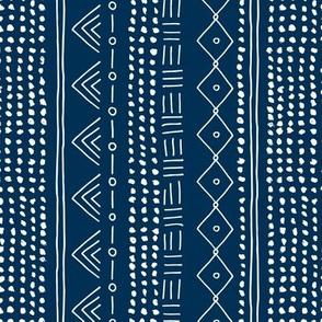 Minimal mudcloth bohemian mayan abstract indian summer love aztec design navy blue vertical rotated