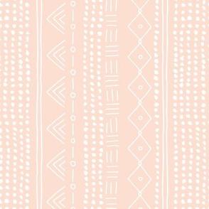 Minimal mudcloth bohemian mayan abstract indian summer love aztec design peach blush vertical rotated