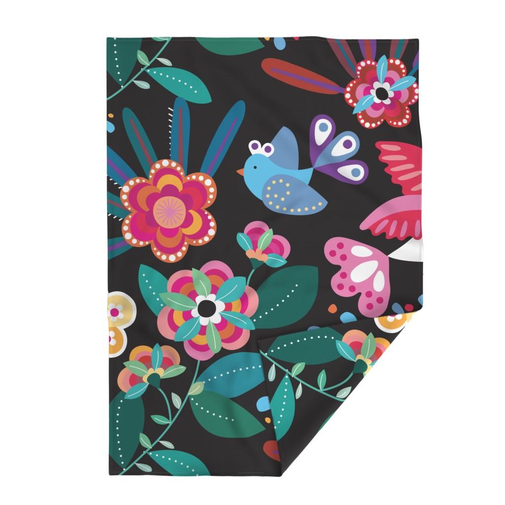 Lakenvelder Throw Blanket featuring bohemian garden by lisahilda