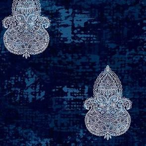 Boho Midnight-white Turpentine cloth