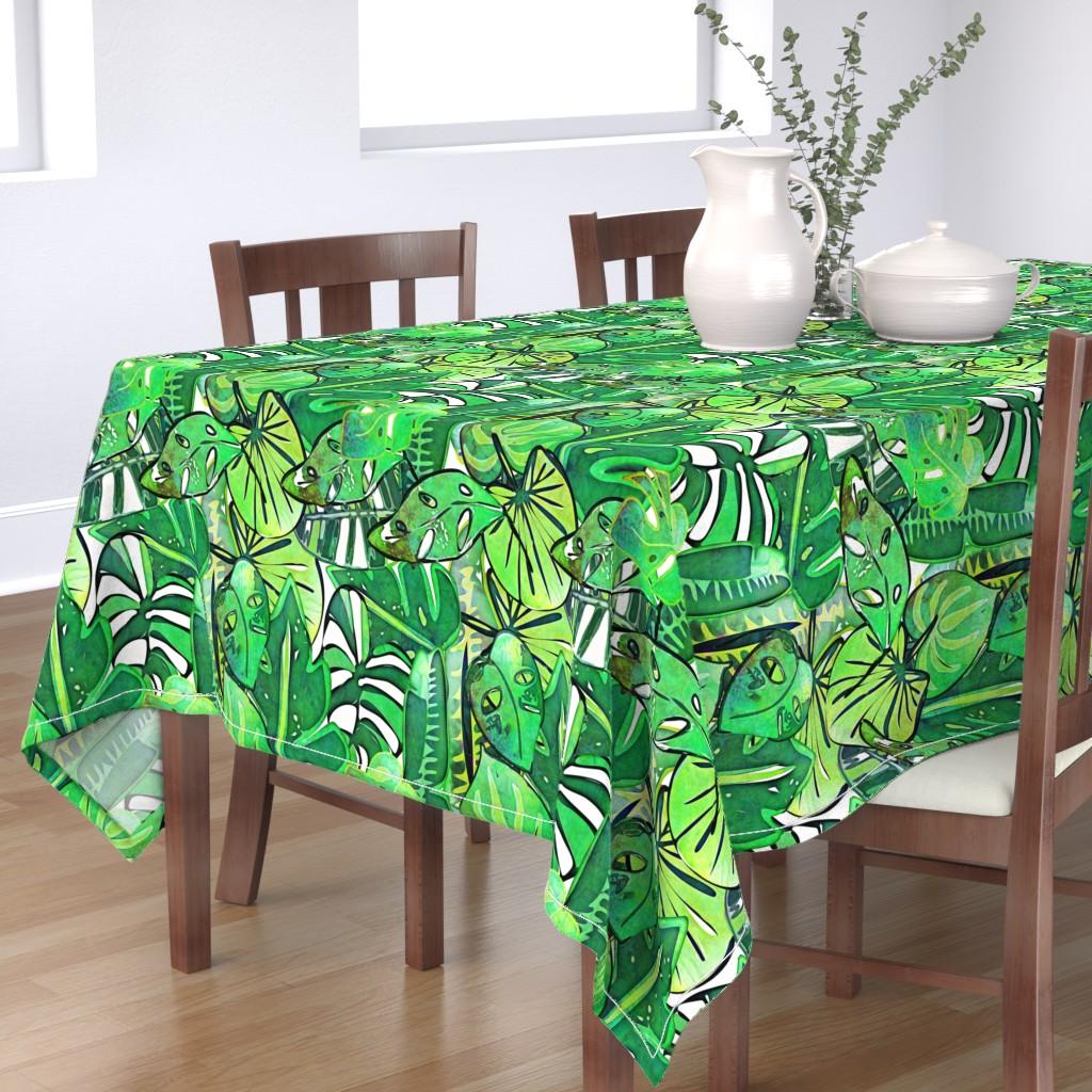Bantam Rectangular Tablecloth featuring Bohemian Jungle by bruxamagica