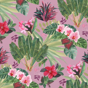 Lush Tropical Bohemian-Mauve