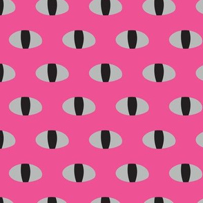 Snake Eyes Watching Pink Black Gray Simple Graphic