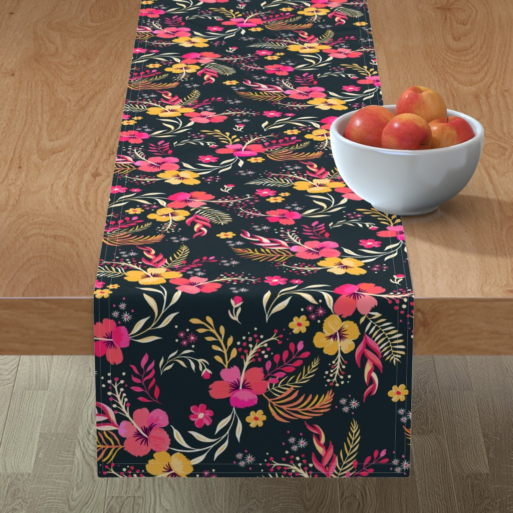 Minorca Table Runner featuring Hand Painted Bohemian Paradise by jill_o_connor