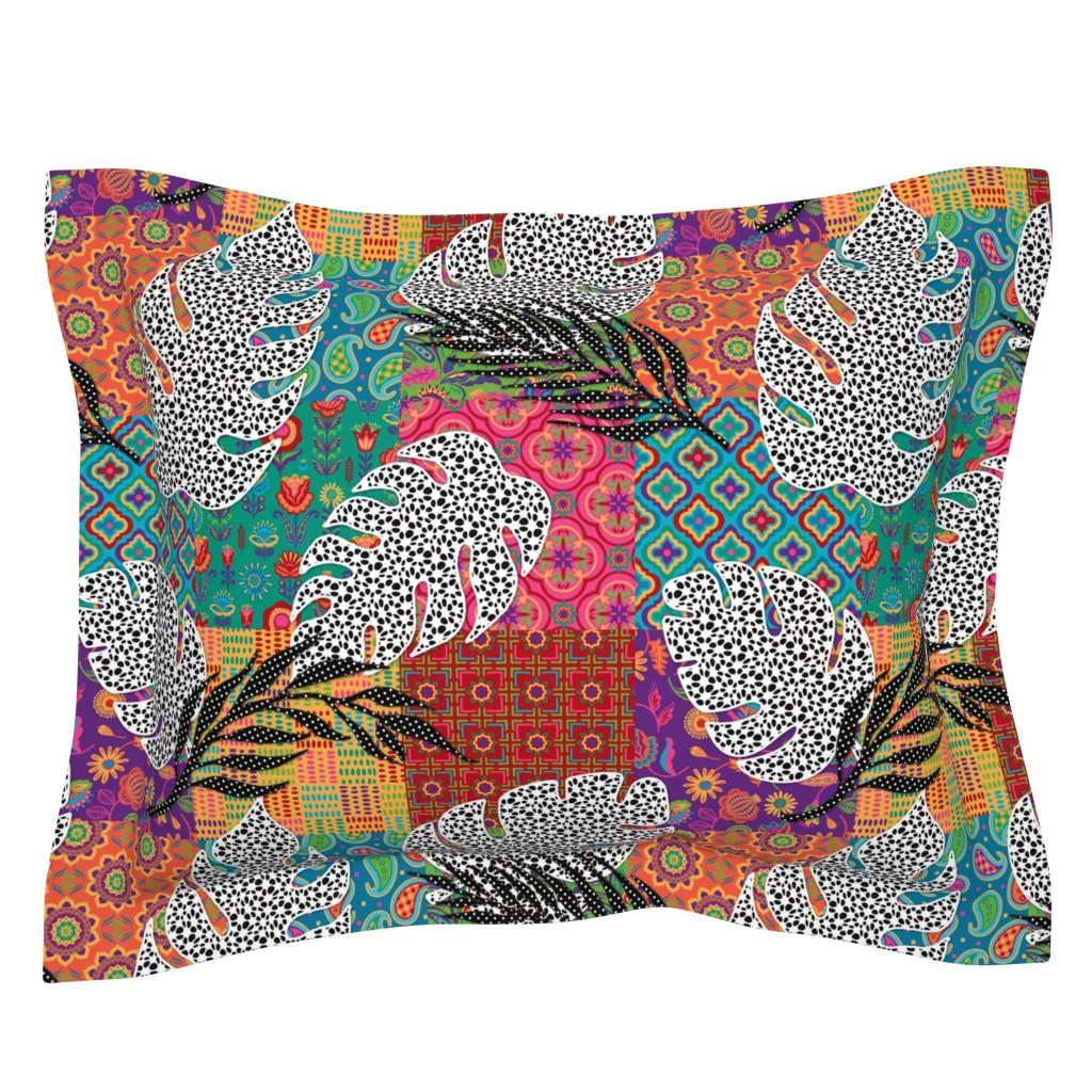 Sebright Pillow Sham featuring Boho Paradise by malibu_creative