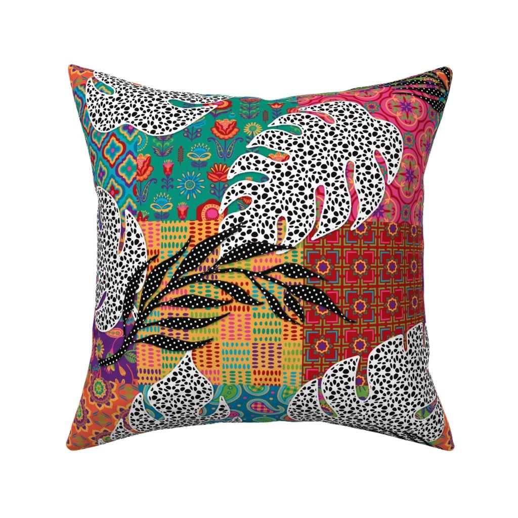 Catalan Throw Pillow featuring Boho Paradise by malibu_creative