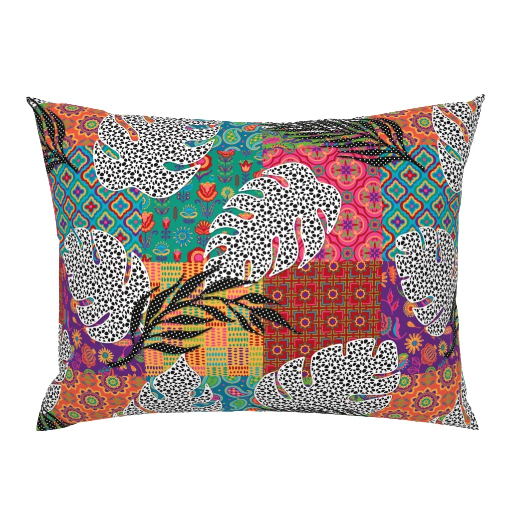 Campine Pillow Sham featuring Boho Paradise by malibu_creative