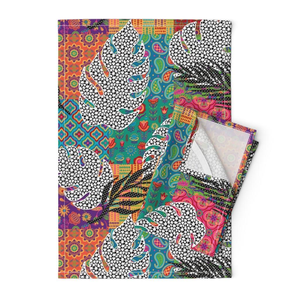 Orpington Tea Towels featuring Boho Paradise by malibu_creative