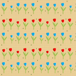 TULIP FIELD on hessian
