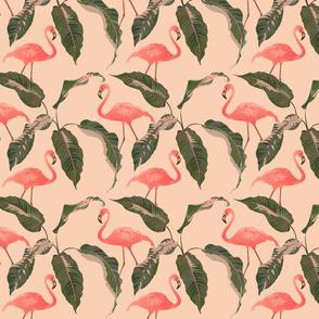Palm and flamingo