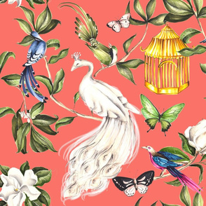 Chinoiserie - Living Coral