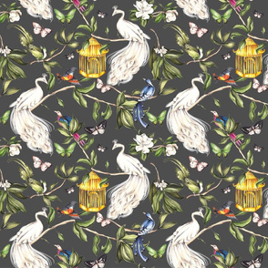 Chinoiserie- Gray- Small Scale